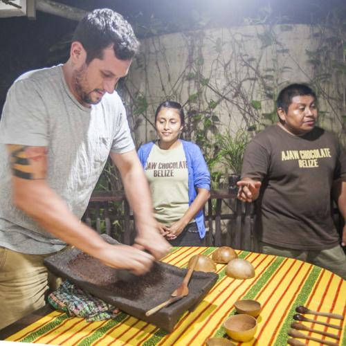 Chocolate making with Mayan Cacao