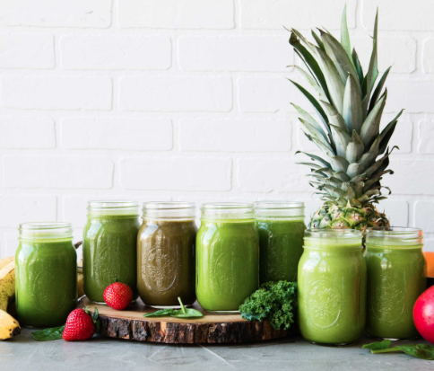 A Healthy balanced meal for wellness. Ask for our Green-drink tropical smoothies