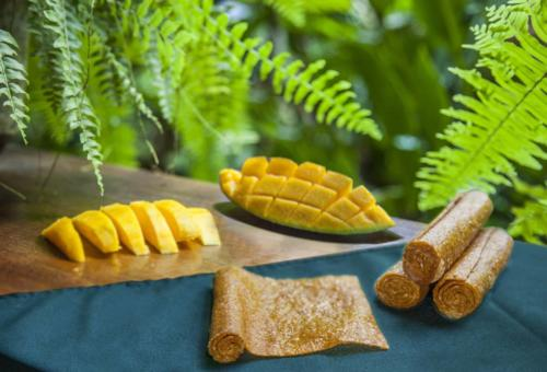 A Healthy snack for wellness. Our all natural mango fruit rolls.